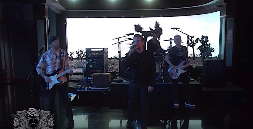 U2 zelebrierten bei Jimmy Kimmel ihren bisher einzigen TV-Auftritt 2017 im US-Fernsehen