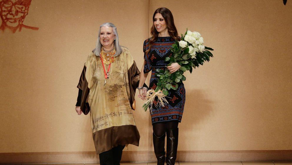 Designer Laura Biagiotti und ihre Tochter Lavinia Biagiotti