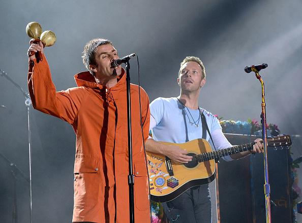 Sorgten für Gänsehaut: Liam Gallagher (l.) und Chris Martin von Coldplay.