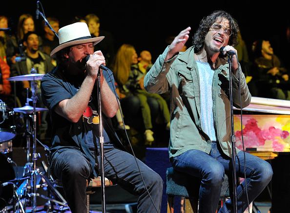 Eddie Vedder (l.) und Chris Cornell im Oktober 2014.