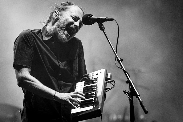 Thom Yorke von Radiohead auf dem Coachella-Festival 2017.