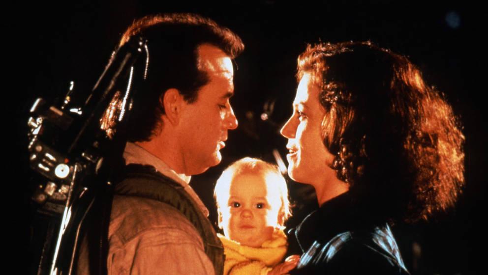 """Henry Deutschendorf als Baby Oscar mit Bill Murray und Sigourney Weaver in """"Ghostbusters II"""""""