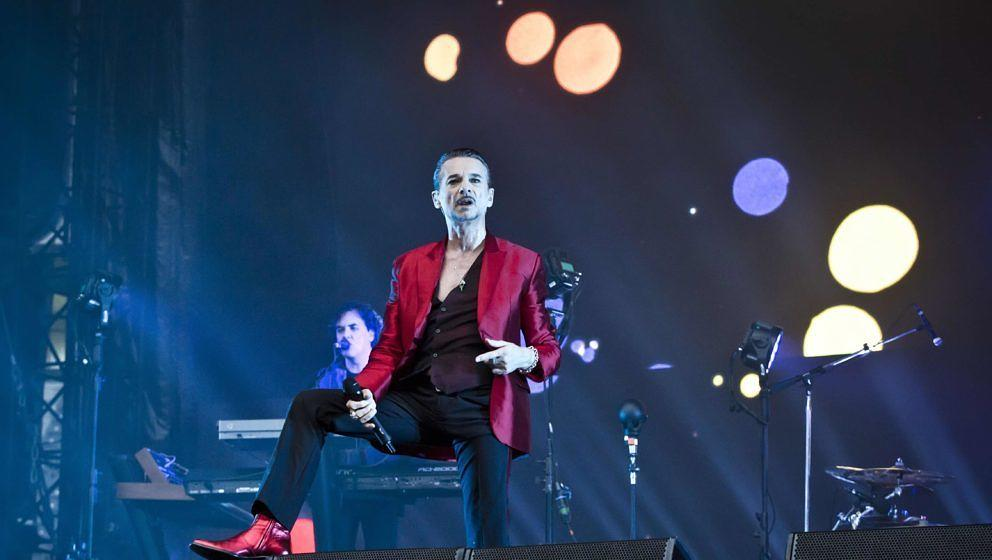 BERLIN, GERMANY - JUNE 22: Singer Dave Gahan of the British band Depeche Mode performs live on stage during a concert at the