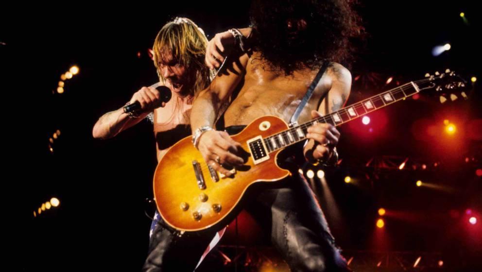 Slash and Axl Rose (Photo by Ke.Mazur/WireImage)