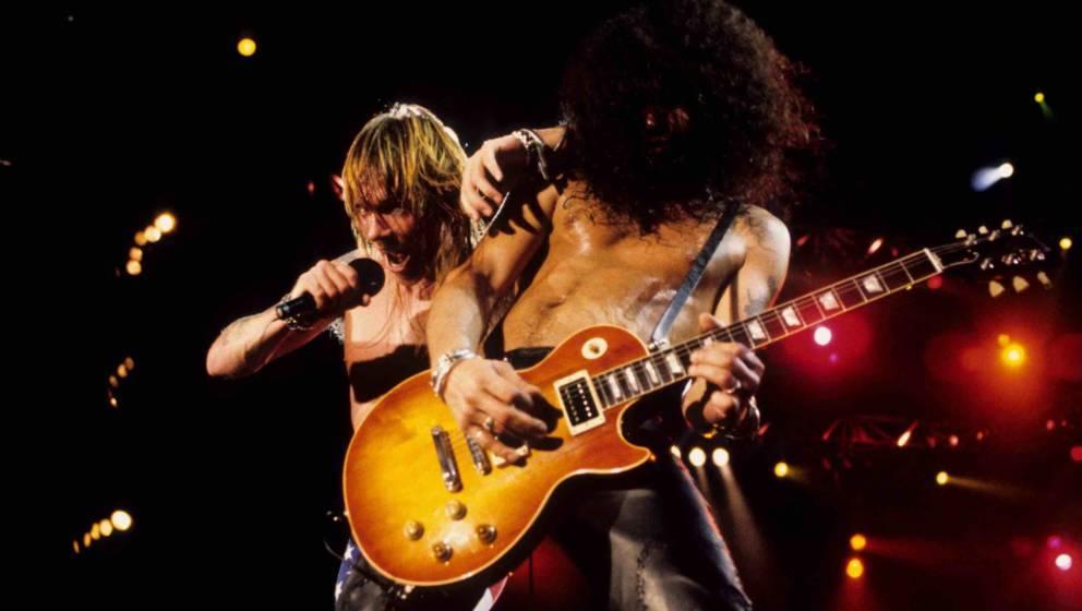 Die guten alten Zeiten? Slash und Axl Rose live