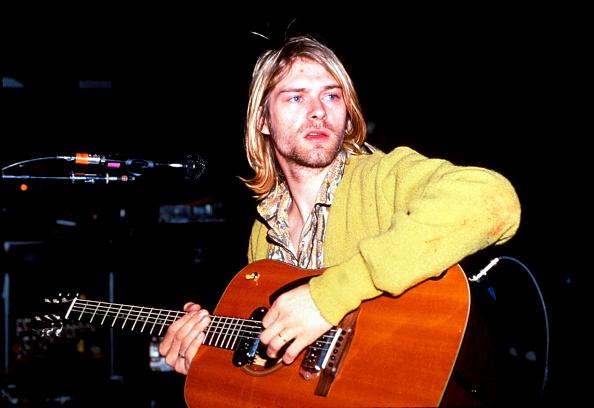 Kurt Cobain von Nirvana im Jahr 1990.
