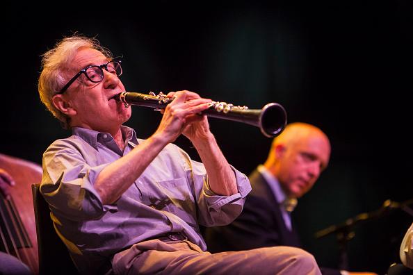 Woody Allen mit seiner New Orleans Jazz Band in der Royal Albert Hall in London 2017.