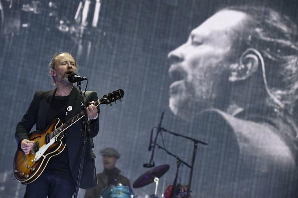 """Hier """"stöhnt und wimmert"""" er: Thom Yorke von Radiohead beim """"Glasgow Green""""-Festival 2017."""