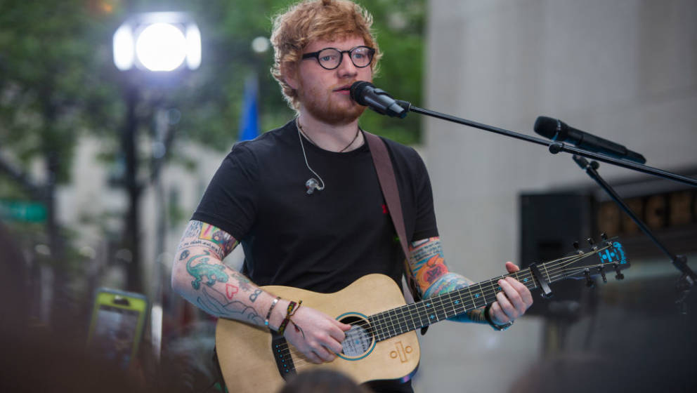 TODAY -- Pictured: Ed Sheeran on Thursday, July 6, 2017 -- (Photo by: Nathan Congleton/NBC/NBCU Photo Bank via Getty Images)