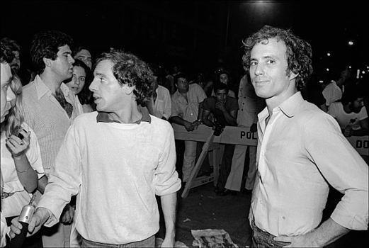 Vor dem Studio 54: Steve Rubell (l.) und Ian Schrager im Jahr 1978.