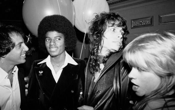 Steve Rubell, Michael Jackson, Steven Tyler of Aerosmith and Cherrie Currie at the Studio 54 in New York City, New York (Phot
