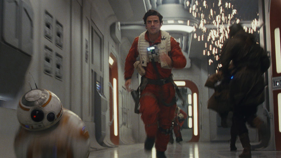 "Poe Dameron und BB-8 in ""Star Wars: The Last Jedi"""