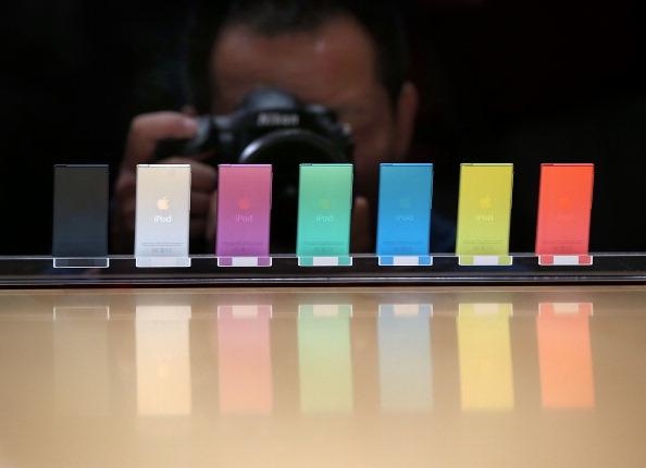 Die iPods machten Aplle erfolgreich. Hier der iPod nano im Jahr 2012.