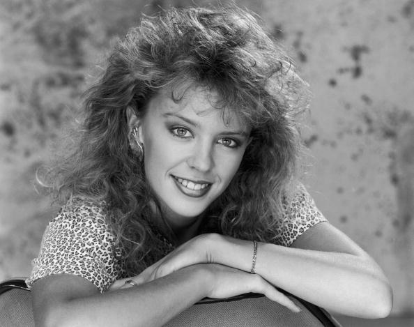 Australian pop singer and star of 'Neighbours', Kylie Minogue, circa 1990. (Photo by Dave Hogan/Hulton Archive/Getty Images)