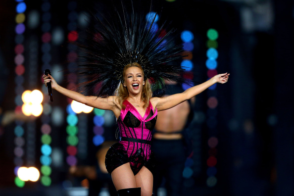 GLASGOW, SCOTLAND - AUGUST 03:  Singer Kylie Minogue performs during the Closing Ceremony for the Glasgow 2014 Commonwealth G
