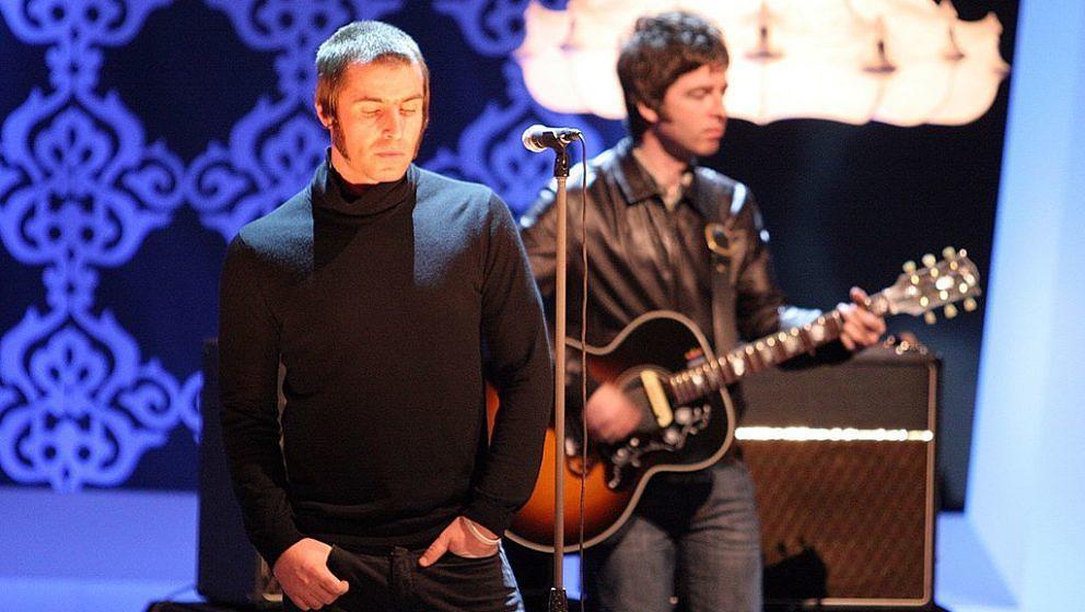 Liam Gallagher (Sänger), Bruder Noel Gallagher (Gitarrist), Mitglieder Musikgruppe 'Oasis', 180. ZDF-Show 'Wetten, dass?''Me