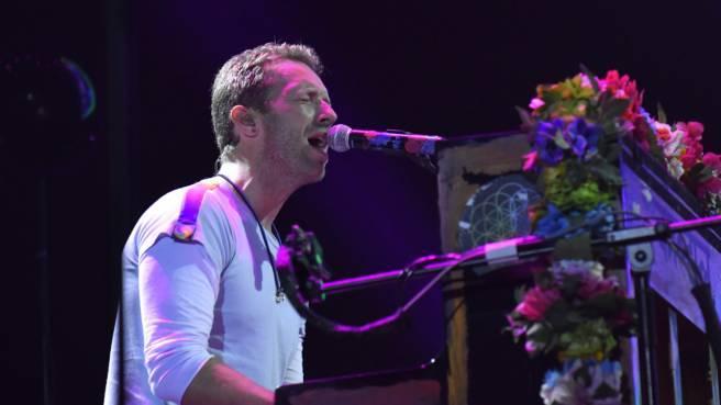 Chris Martin von Coldplay am Klavier (Archivfoto)