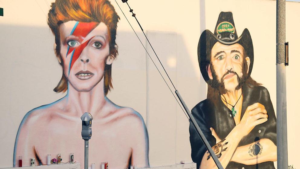 David Bowie und Lemmy Kilmister auf einem gemeinsamen Graffiti in Venice (Kalifornien)