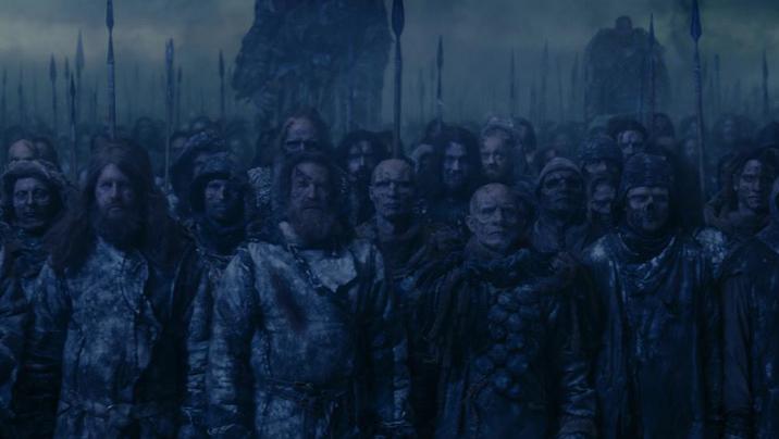 """Mitglieder der Metalband Mastodon mischten sich unter die White Walker im """"Game of Thrones""""-Staffelfinale."""