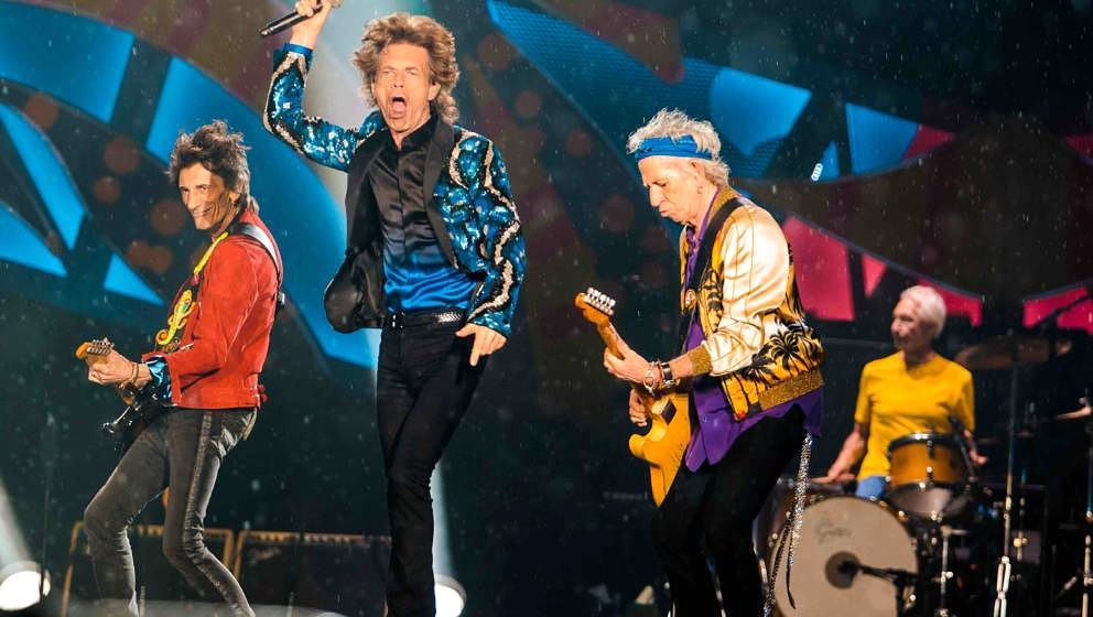 Rolling Stones performs live on stage at Morumbi Stadium on February 24, 2016 in Sao Paulo, Brazil. (Photo by Mauricio Santan