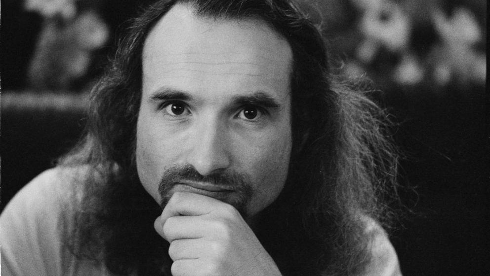 Holger Czukay of German avant-garde rock group Can, London, January 1974. (Photo by Michael Putland/Getty Images)