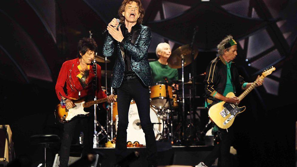 ADELAIDE, AUSTRALIA - OCTOBER 25:  The Rolling Stones perform live at Adelaide Oval on October 25, 2014 in Adelaide, Australi