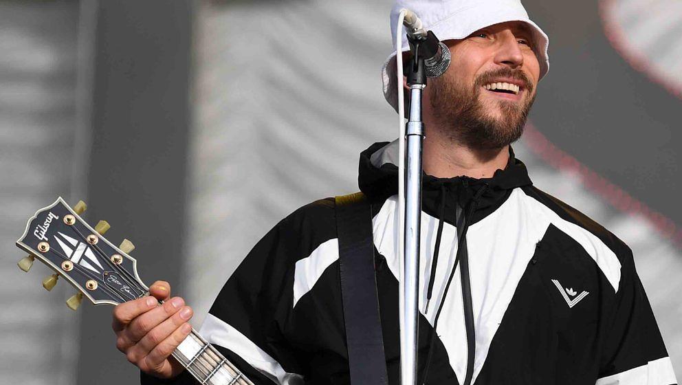 Der Sänger Arnim Teutoburg-Weiß der Band Beatsteaks steht am 09.09.2017 in Hoppegarten (Brandenburg) beim Lollapalooza Fest