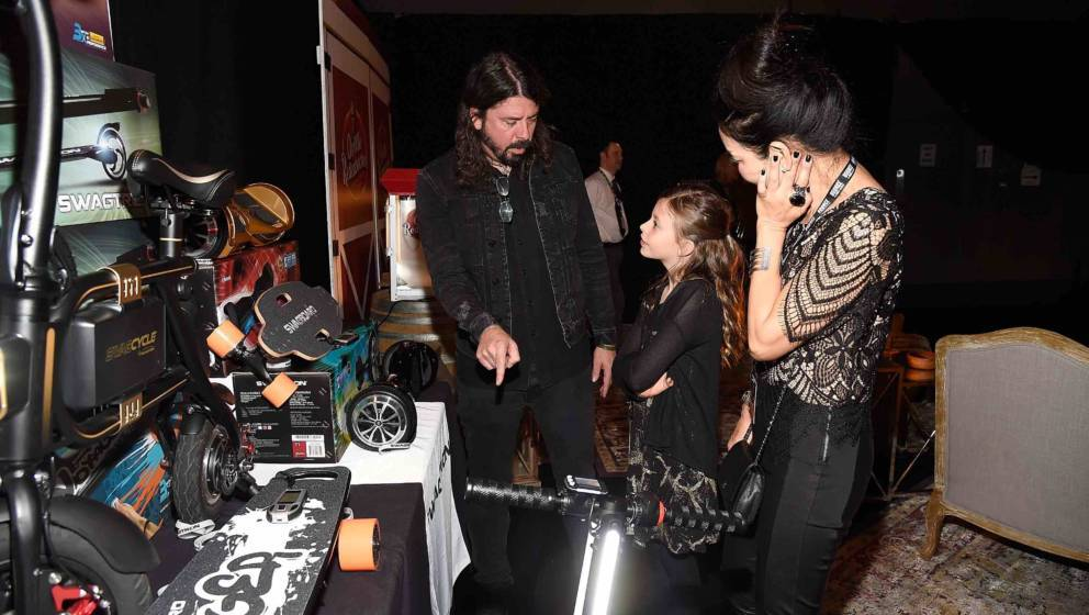 LOS ANGELES, CA - FEBRUARY 10:  Dave Grohl and Harper Grohl attend MusiCares Person of the Year honoring Tom Petty at the Los