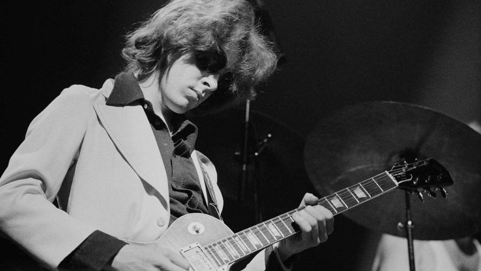 Guitarist Mick Taylor performing with the Rolling Stones at the Olympiahalle, Munich, Germany, 28th September 1973. (Photo by