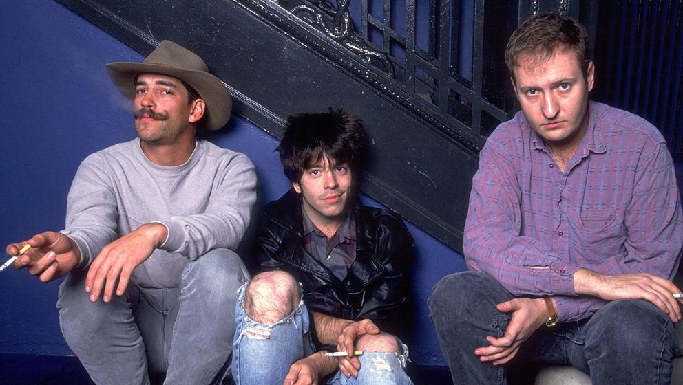 Grant Hart (Mitte) mit Hüsker Dü im Jahr 1987