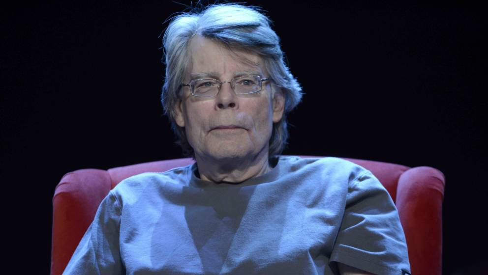 PARIS, FRANCE - NOVEMBER 16: American writer Stephen King poses during a portrait session held on November 16, 2013 in Paris,
