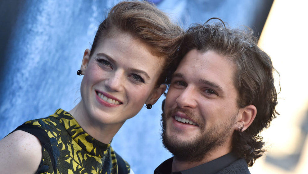 LOS ANGELES, CA - JULY 12:  Actors Rose Leslie and Kit Harington arrive at the premiere of HBO's 'Game Of Thrones' Season 7 a