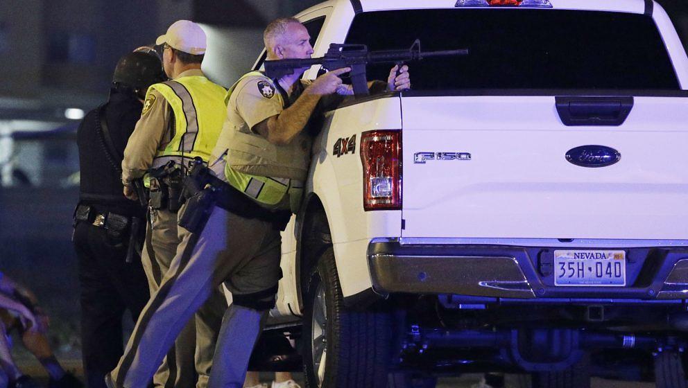 Polizisten am Tatort in las Vegas