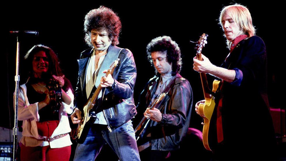 Bob Dylan und Tom Petty bei Farm Aid