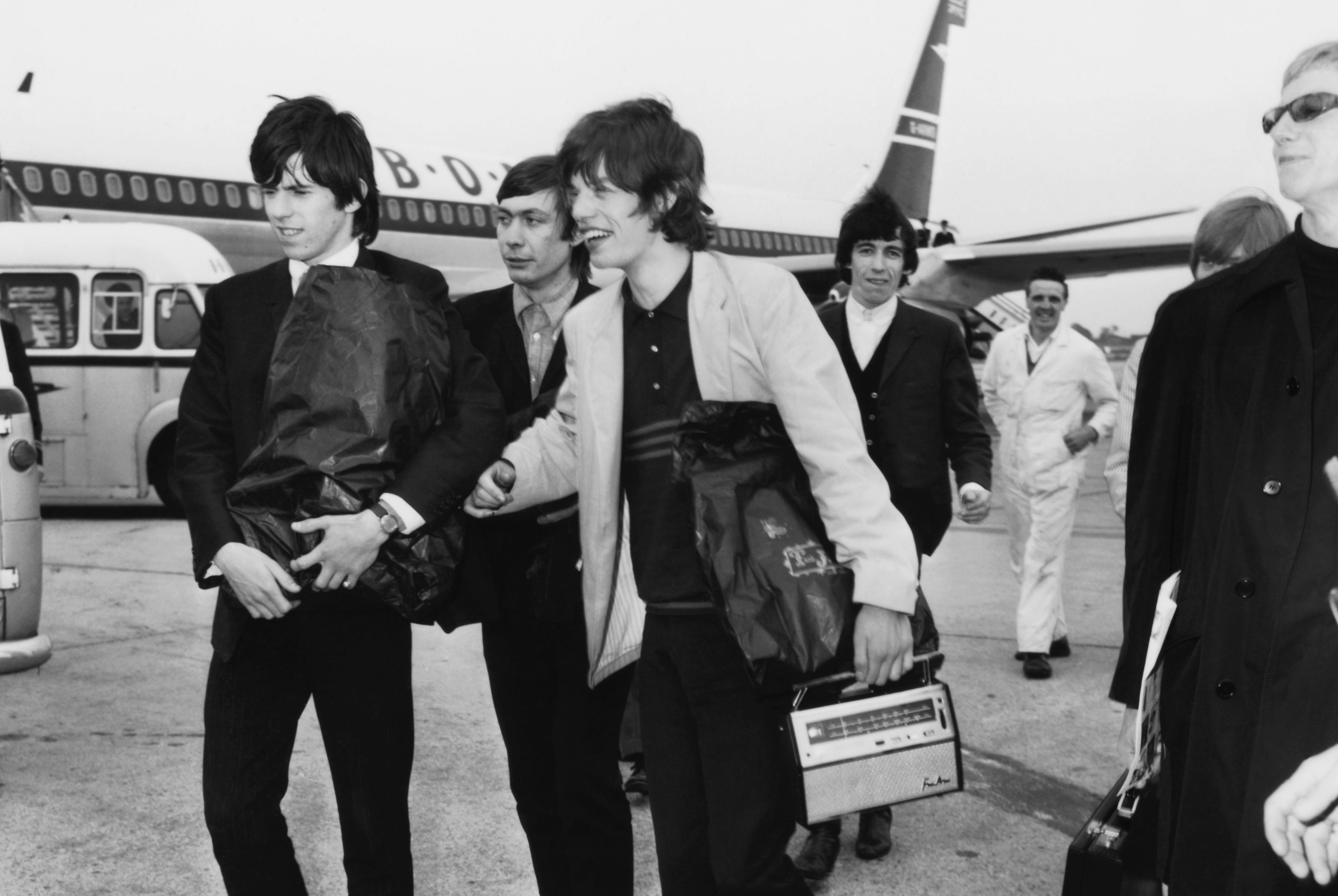 The Rolling Stones mit Andrew Loog Oldham