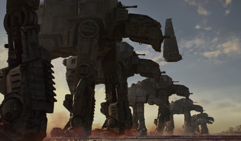 "Szene aus dem Trailer zu ""Star Wars: The Last Jedi"""