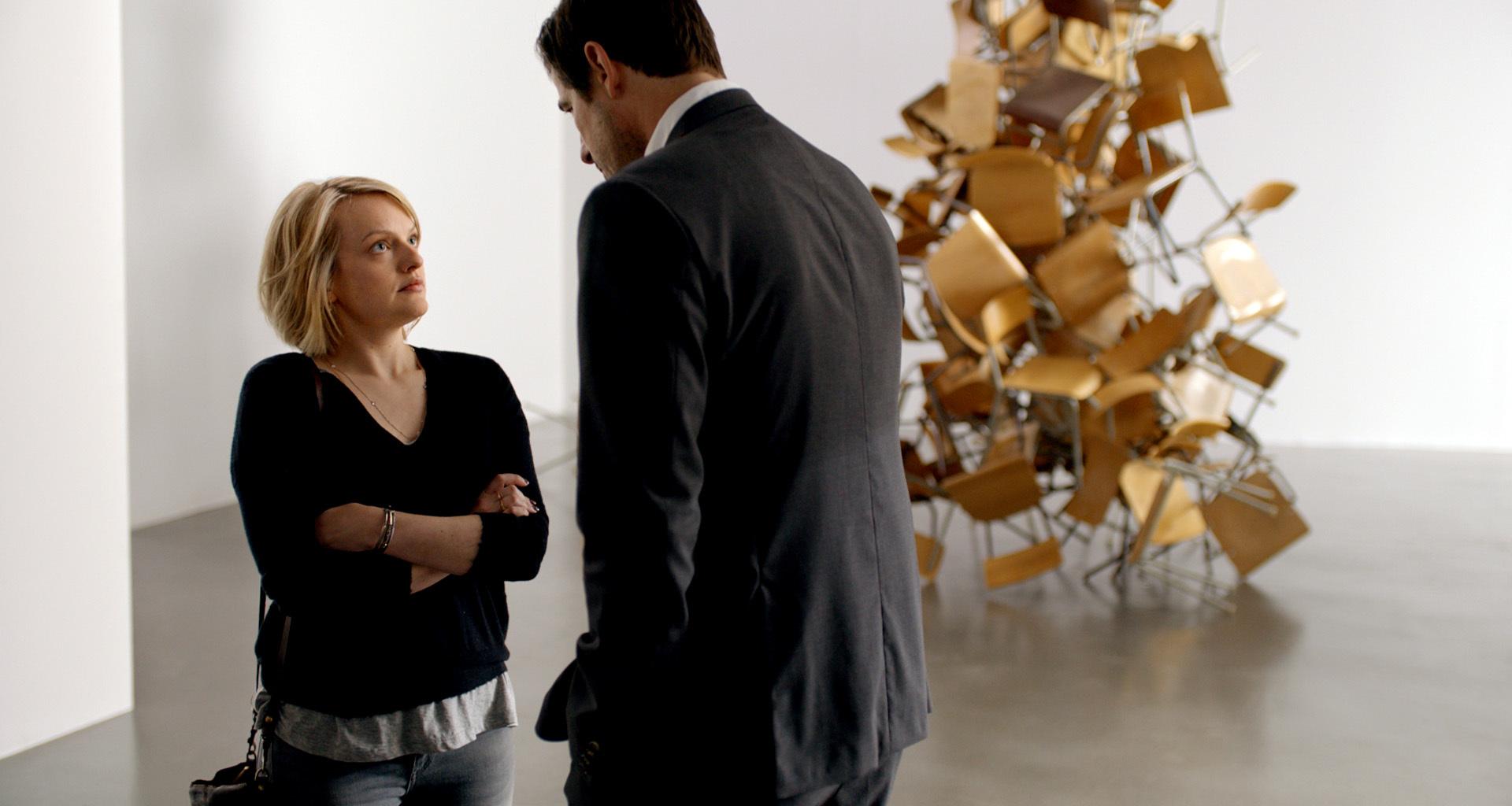 "Elisabeth Moss als Anne in einer Szene des Films ""The Square"""