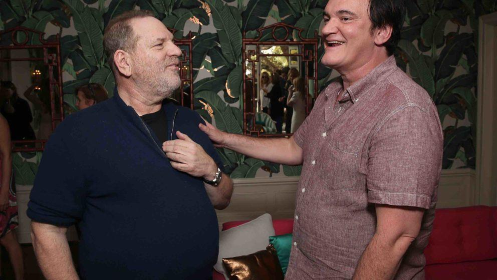 HOLLYWOOD, CA - FEBRUARY 26:  Harvey Weinstein and Quentin Tarantino attend The Weinstein Company's Celebratory Lunch For Enn