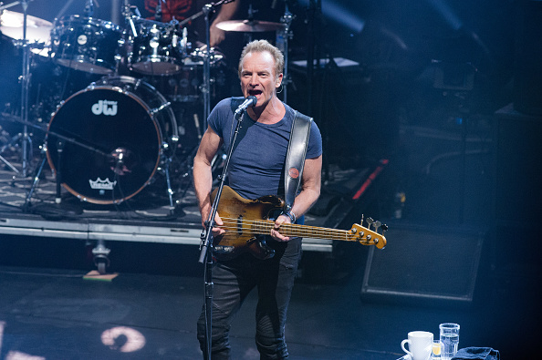 Sting bei seinem Konzert am 12. April im Pariser Olympia.