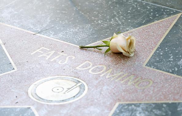 Gedenken an Fats Domino in Hollywood.