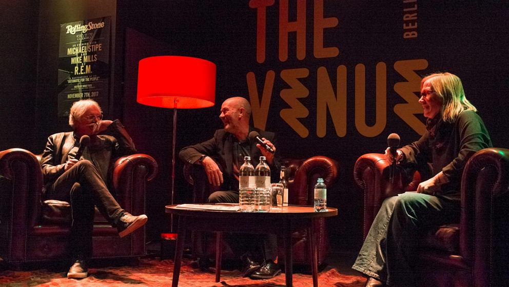 Mike Mills und Michael Stipe beim ROLLING STONE Talk mit R.E.M.