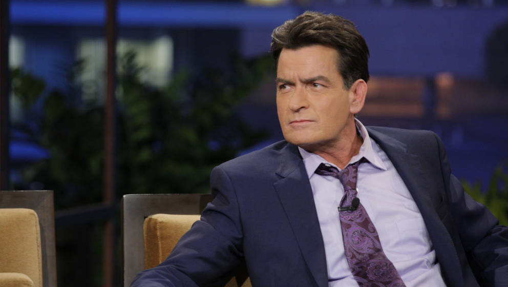 THE TONIGHT SHOW WITH JAY LENO -- Episode 4526 -- (EXCLUSIVE COVERAGE) -- Pictured: Actor Charlie Sheen during a commercial b