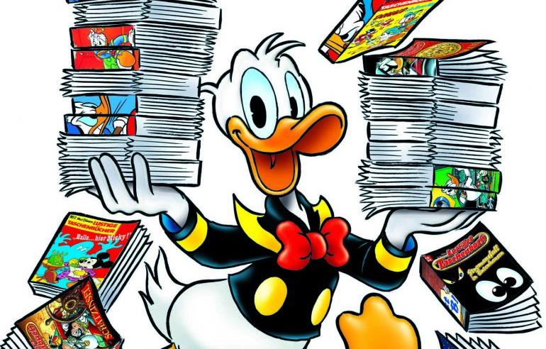 """Jahr für Jahr werden Millionen Ausgaben des """"Lustigen Taschenbuchs"""" verkauft"""