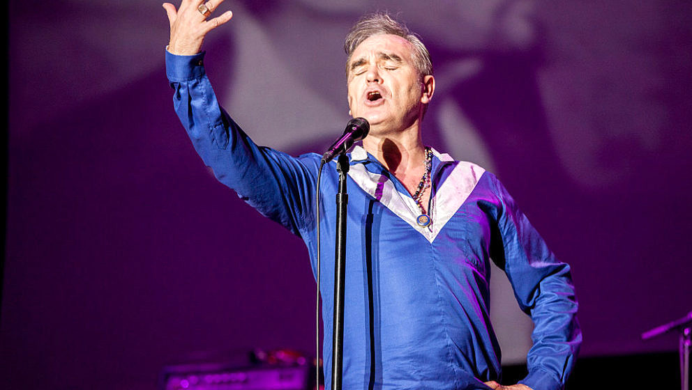 MURCIA, SPAIN - MAY 01: Morrissey performs on stage on the 1st day of SOS4.8 on May 1, 2015 in Murcia, Spain. (Photo by Xavi