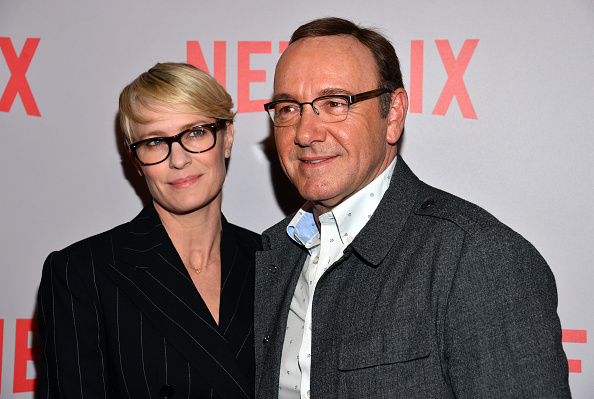 Robin Wright (l.) und Kevin Spacey im April 2017.