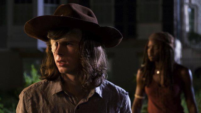 Carl und Michonne