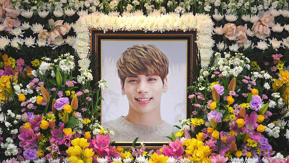 Das Trauerdenkmal von Junghyun in seiner Aufbahrungshalle