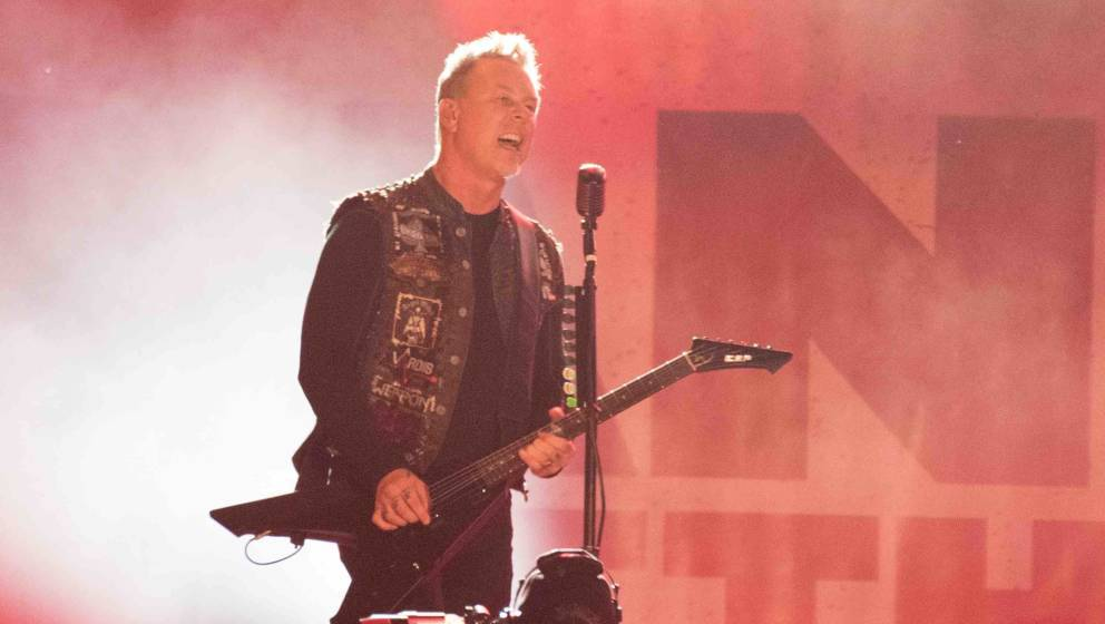 SAN FRANCISCO, CA - NOVEMBER 09:  James Hetfield of Metallica performs during the Band Together Bay Area Benefit Concert at A