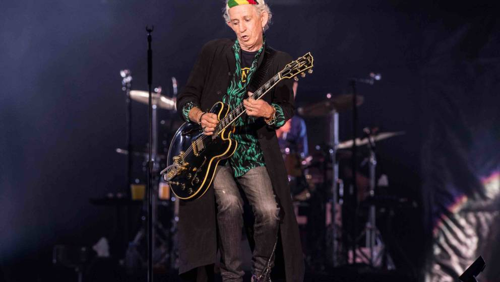 NANTERRE, FRANCE - OCTOBER 19:  Keith Richards of The Rolling Stones performs live on stage at U Arena on October 19, 2017 in