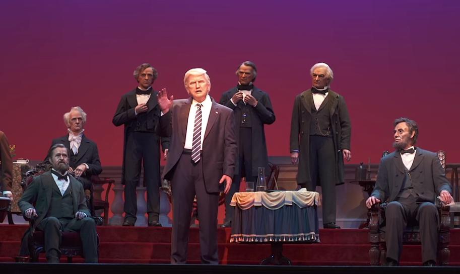 Er sieht (fast) so aus wie Donald Trump und redet auch so: Ein Roboter-Abbild des US-Präsidenten in Walt Disney World
